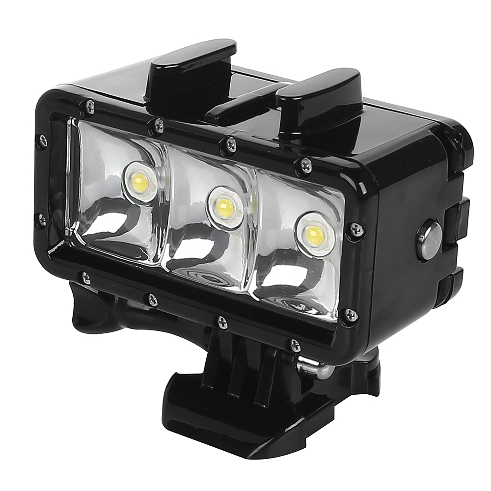 underwater waterproof led flash diving light for gopro hero 4 3 3 camera ebay. Black Bedroom Furniture Sets. Home Design Ideas