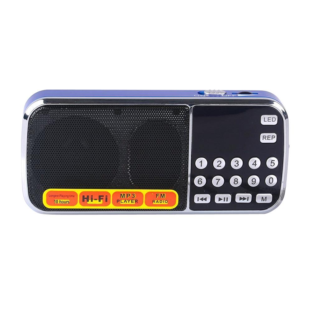 portable lcd fm radio receiver digital mp3 player audio. Black Bedroom Furniture Sets. Home Design Ideas