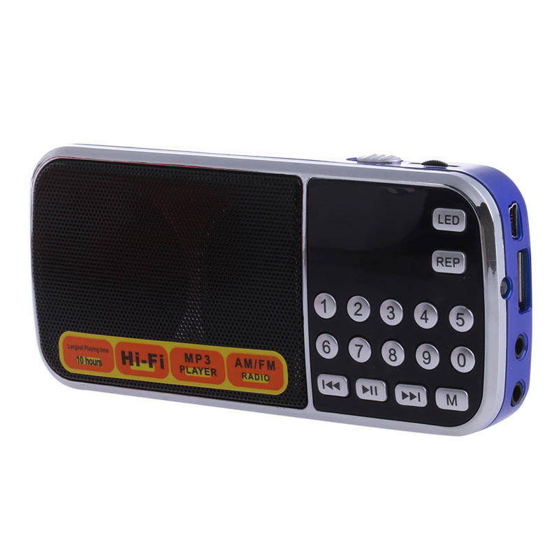 portable lcd fm radio receiver digital mp3 player audio usb micro sd tf card ebay. Black Bedroom Furniture Sets. Home Design Ideas
