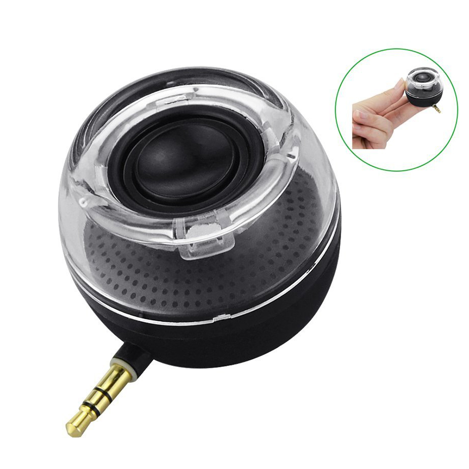 Details about  3.5mm Aux Audio Jack Mini Speaker with USB Port Built-in Battery For Smartphone