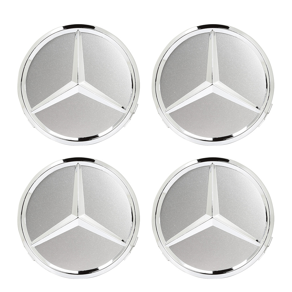 4 x 75mm center hubcap caps mb emblem wheel cover for for Mercedes benz wheel covers