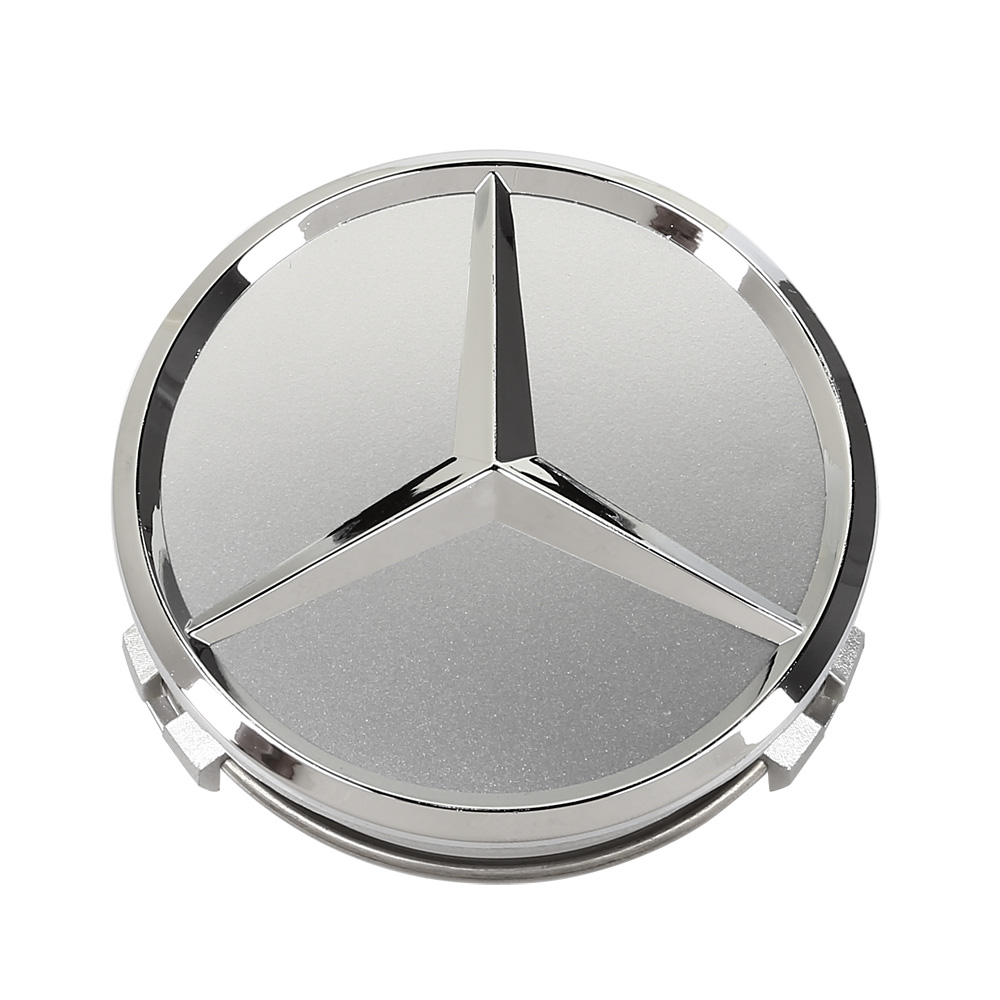 4x 75mm center hubcap hub cap caps mb emblem wheel cover