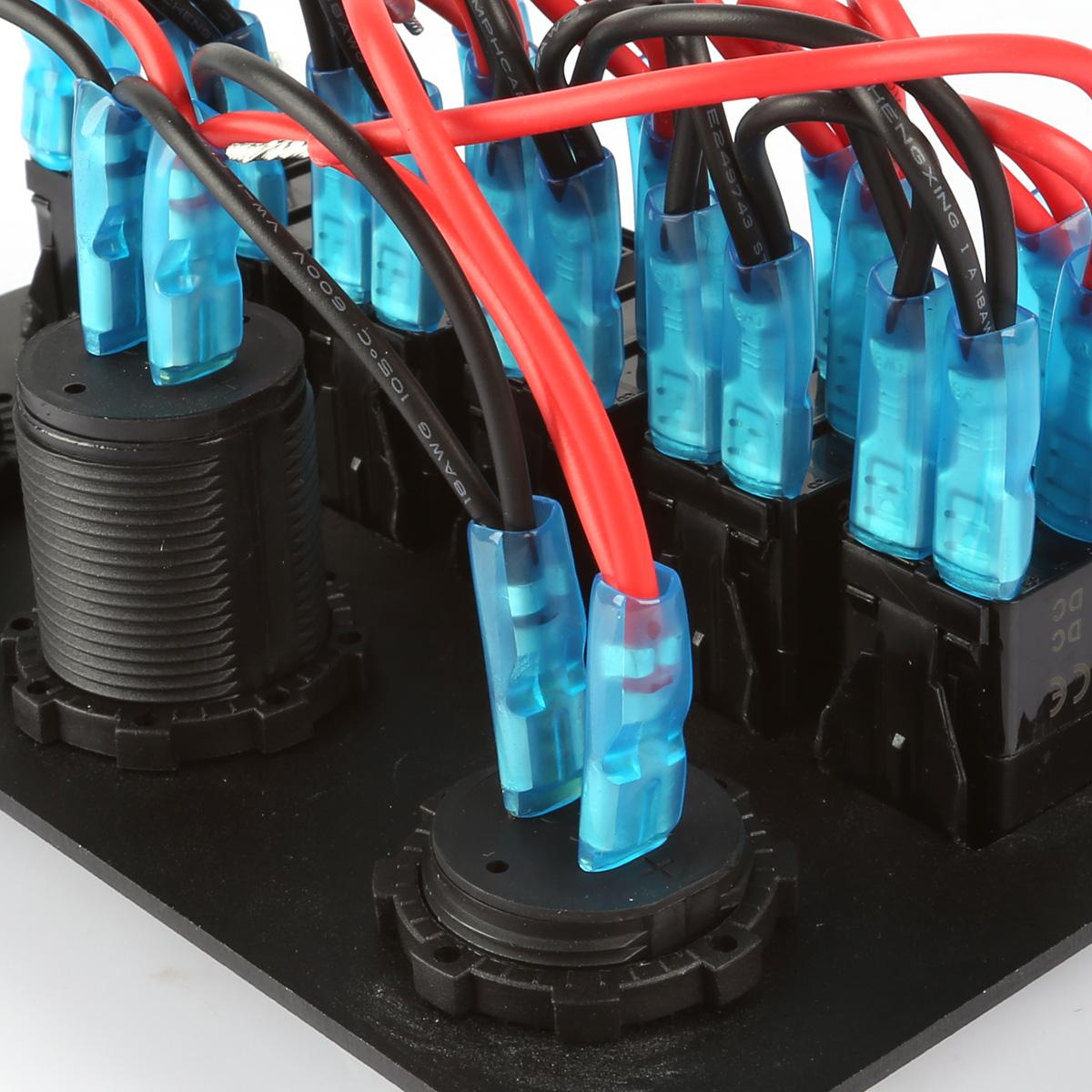 6 gang led schaltpaneel sicherung schalter schalttaf. Black Bedroom Furniture Sets. Home Design Ideas
