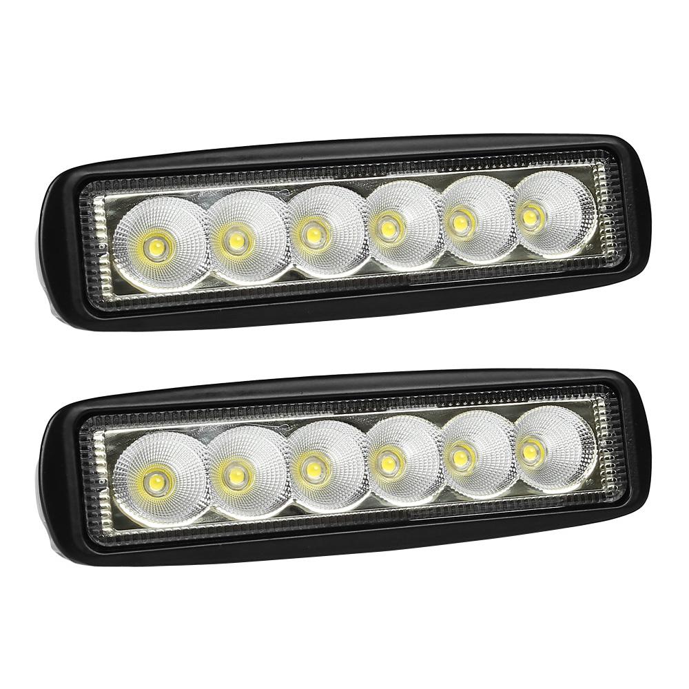 2pcs spreader led deck marine lights for boat flood light 12v 18w black ebay. Black Bedroom Furniture Sets. Home Design Ideas