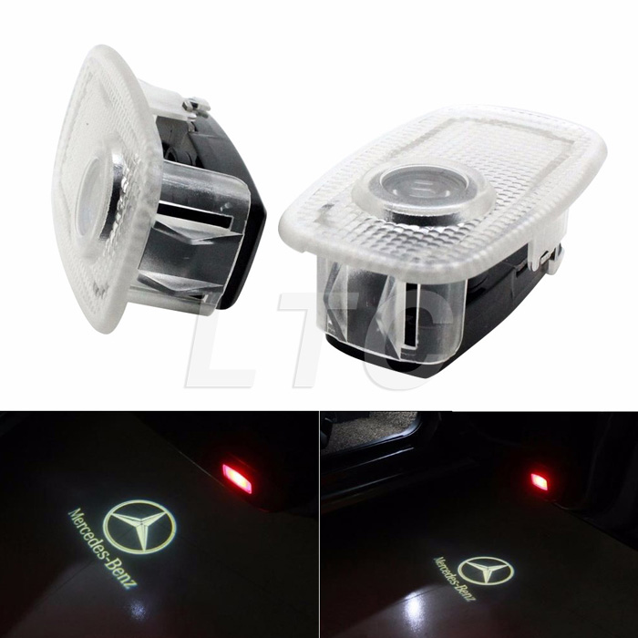 2 X MERCEDES AMG Car Door LED Logo Light Ghost Shadow