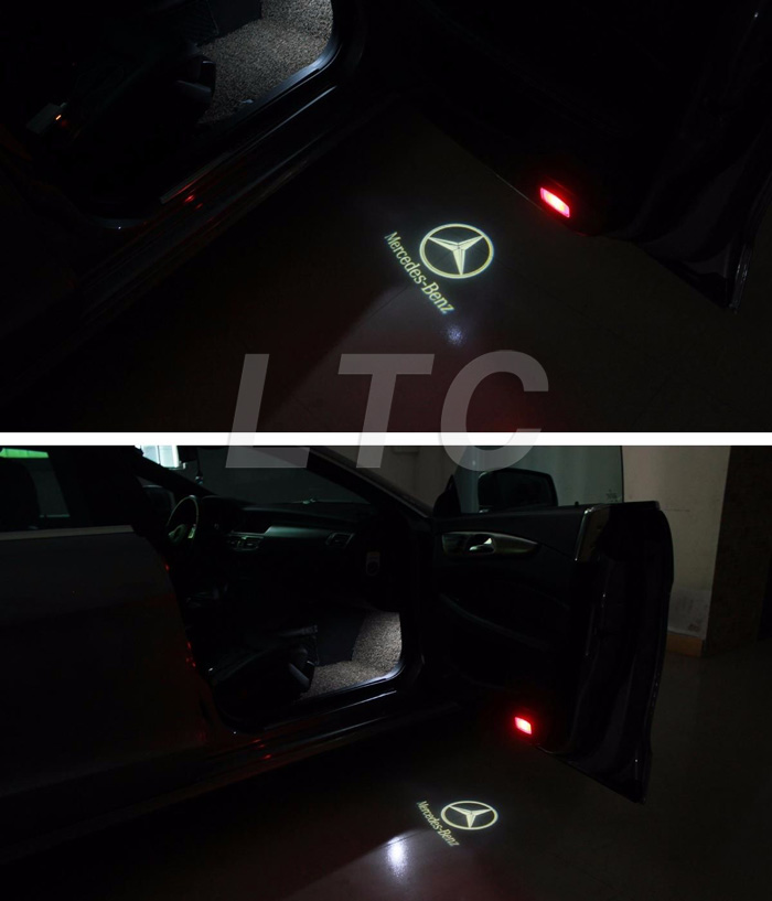 2 x mercedes amg car door led logo light ghost shadow for Mercedes benz door lights