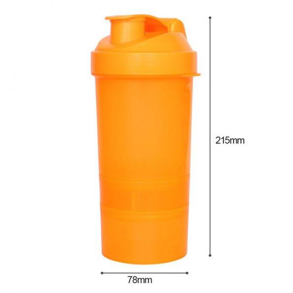 Protein Shaker Net: 500ml 20 Oz Protein Shaker Blender Mixer Cup Bottle Sports