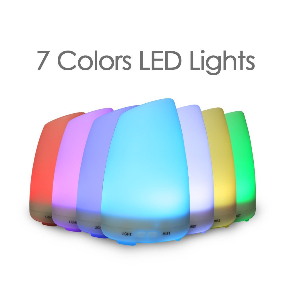 LAGUTE Glory 100ml Aromatherapy Essential Oil Aroma Diffuser with 7 LED Light