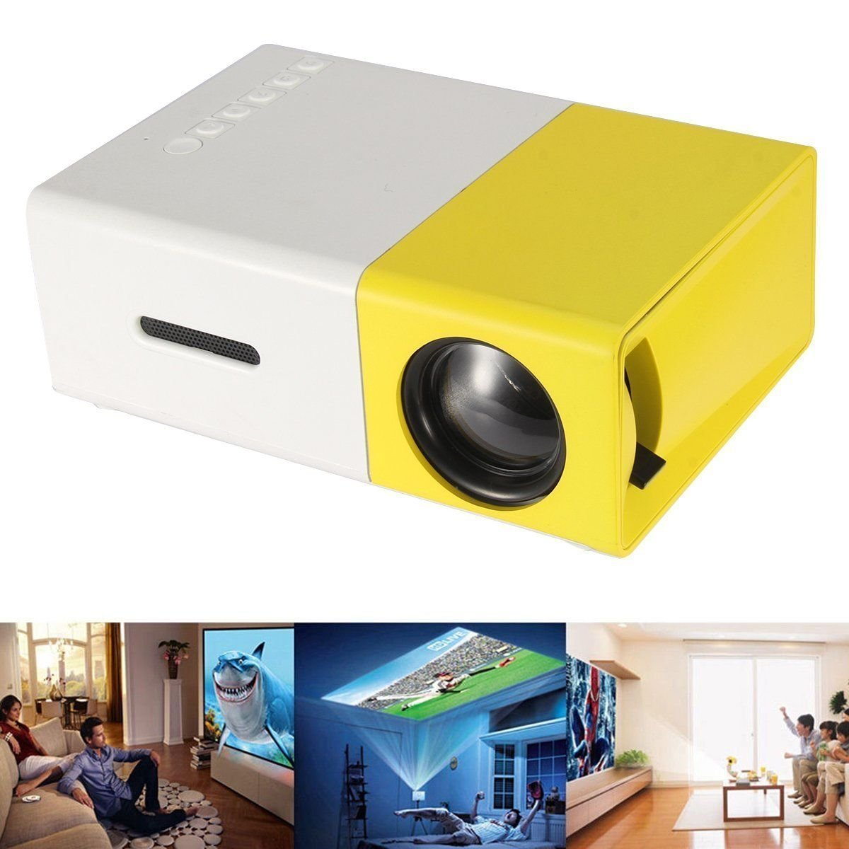Mini pocket projector home cinema pc laptop usb sd av hdmi for Small projector for laptop