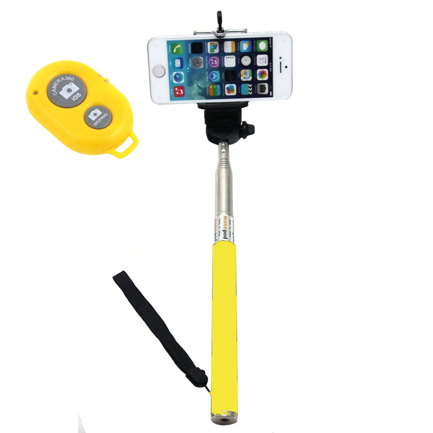 selfie stick monopod halterung aufl ser selbstportr t iphone samsung ipad. Black Bedroom Furniture Sets. Home Design Ideas