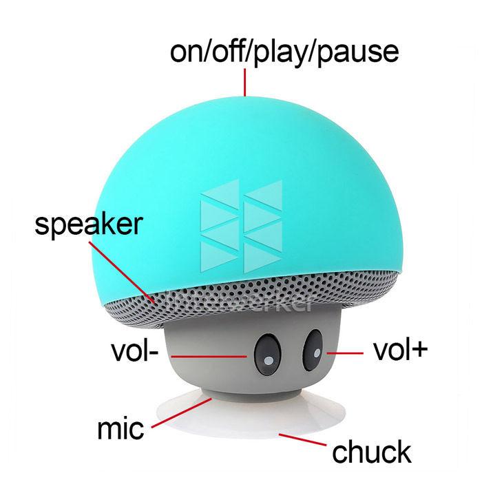 pilz mushroom bluetooth speaker lautsprecher halterung saugnapf handy tablet ebay. Black Bedroom Furniture Sets. Home Design Ideas