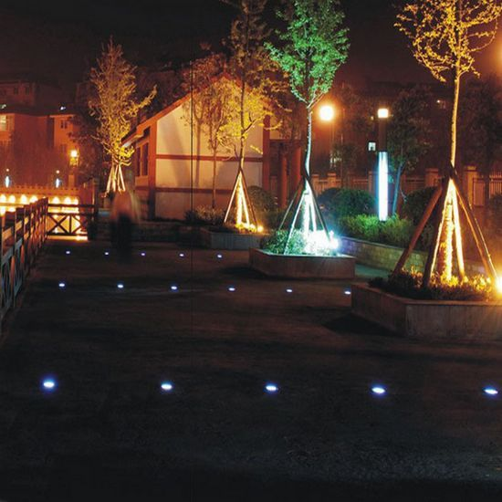 Solar power 3 led buried light lamp outdoor path way for Garden decking lights uk
