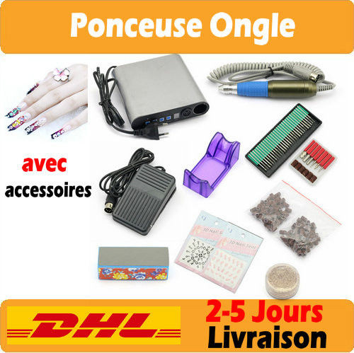 Kit ponceuse prof electrique lime ongles manucure p dicure nail drill embout - Ponceuse electrique ongle ...