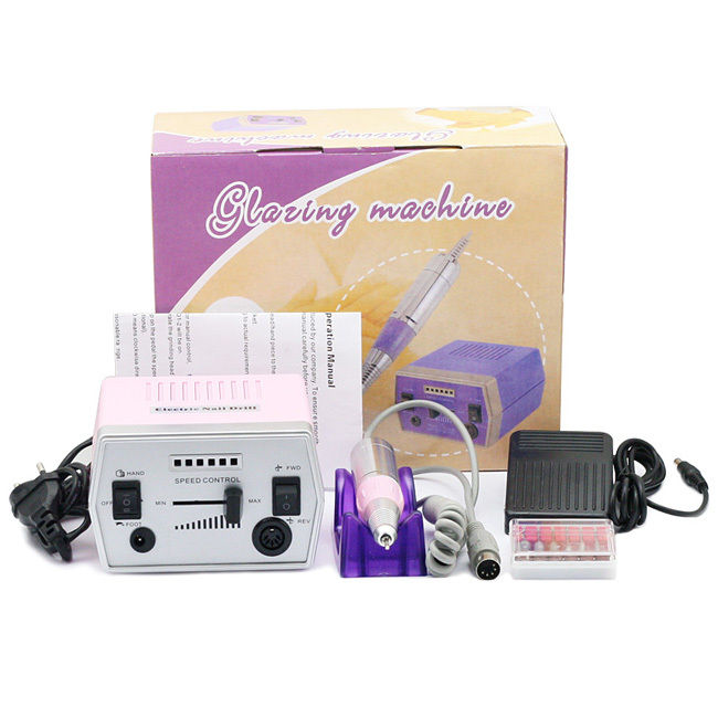 Nail drill art ongle manucure ponceuse electrique lime kit gel uv lamp 4 neon 9w - Ponceuse electrique ongle ...