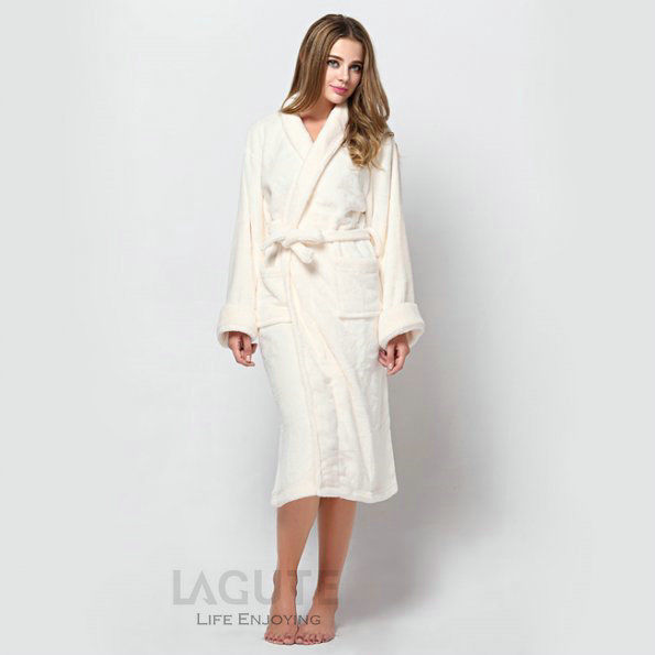 lagute homme femme peignoir de bain pyjamas robe de chambre peluche bathrobe ebay. Black Bedroom Furniture Sets. Home Design Ideas
