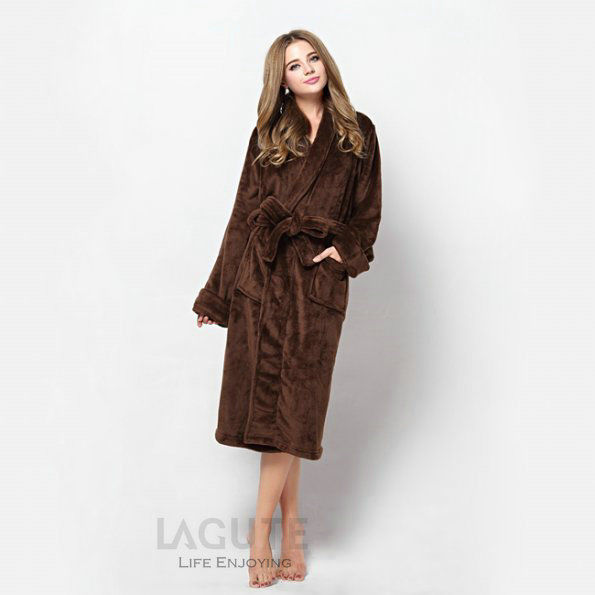 Lagute-Homme-Femme-Peignoir-de-bain-Pyjamas-Robe-de-chambre-Peluche ...