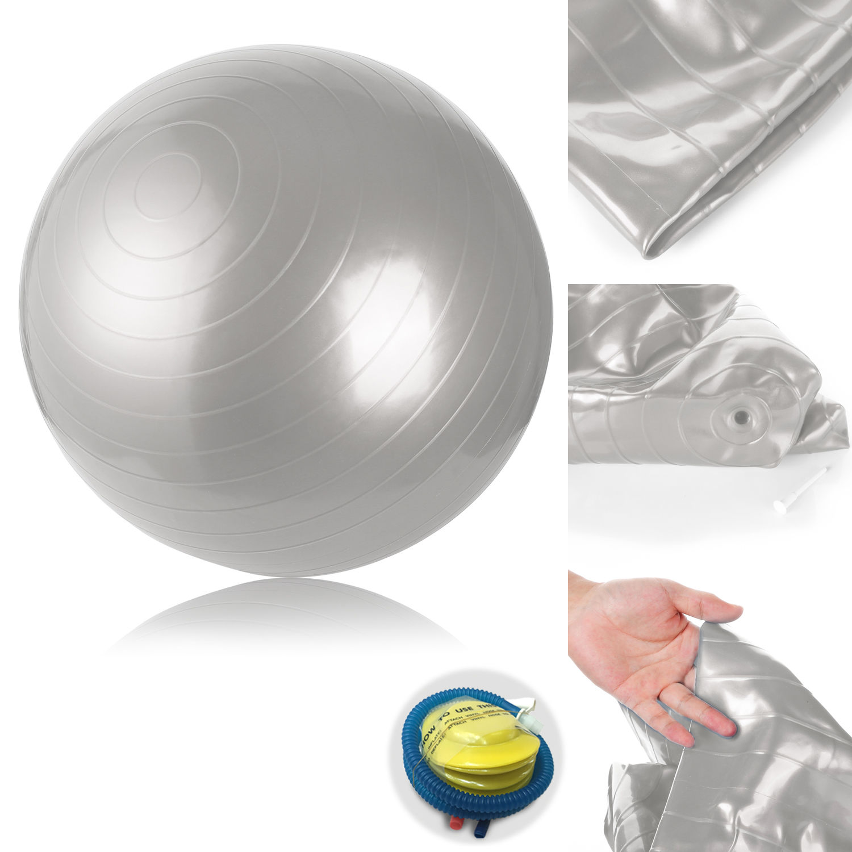 gymnastikball 45 55 65 75cm mit pumpe fitnessball sitzball gymball b rostuhl ebay. Black Bedroom Furniture Sets. Home Design Ideas