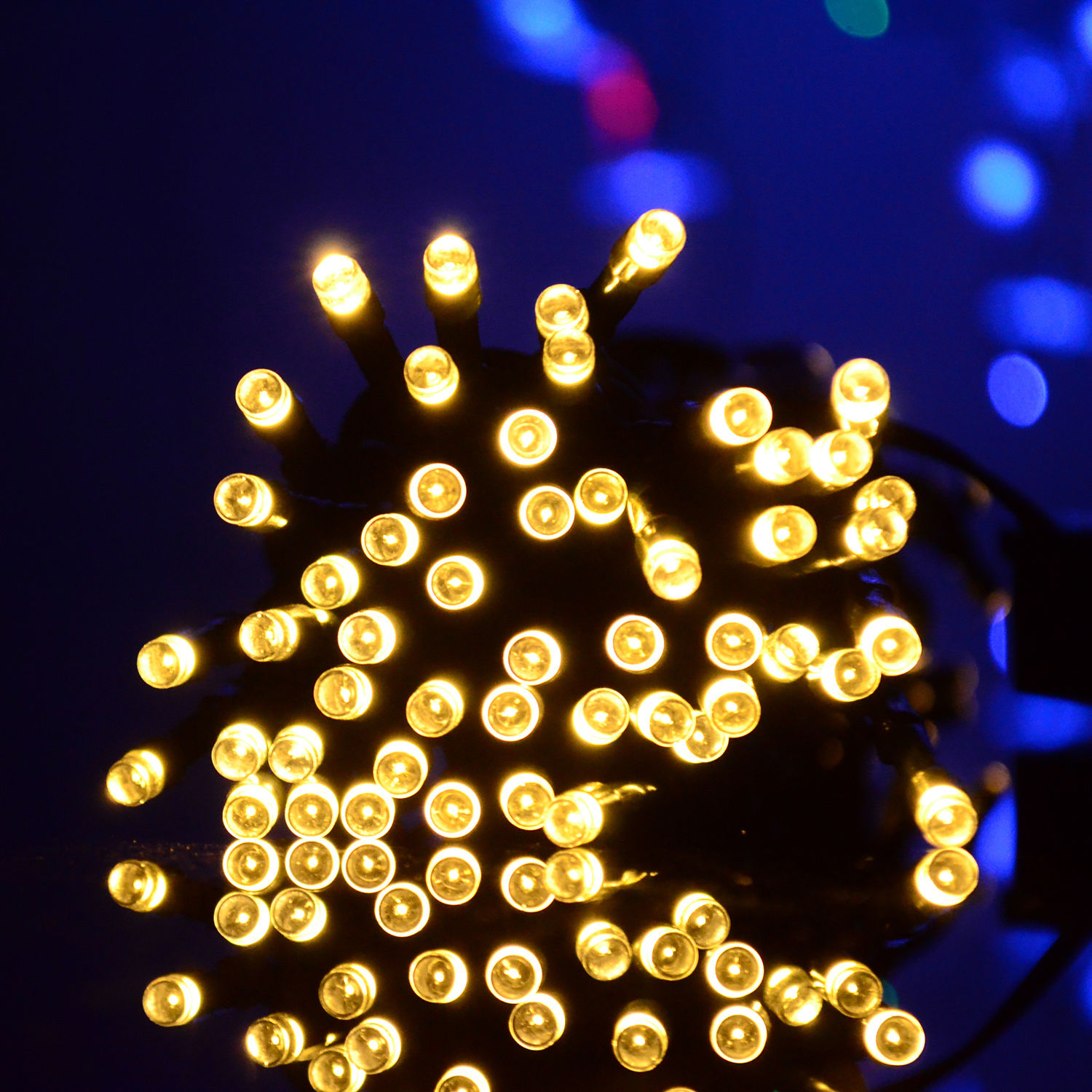 Solar Power Multi-color LED String Light 30-200Leds 5M-22M Shinning Decor lamp eBay