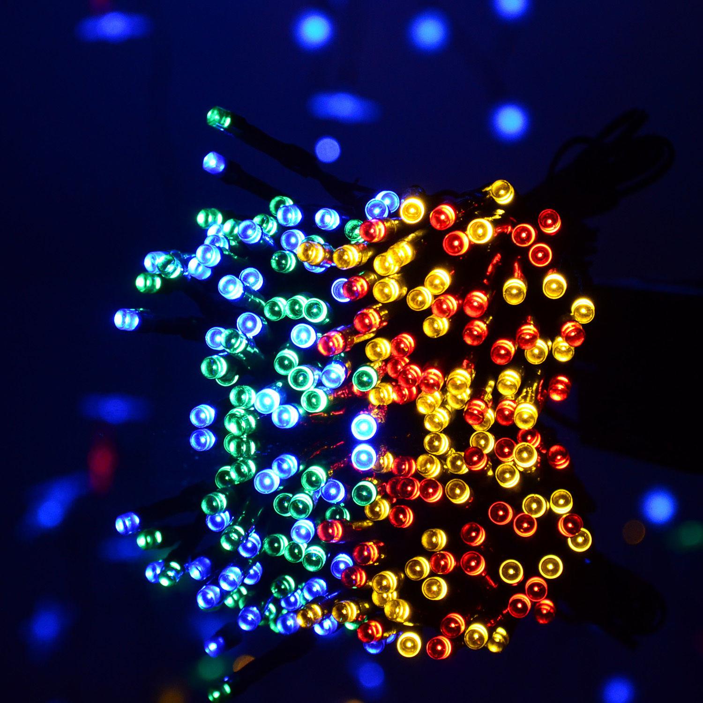 Solar Power Multi-color LED String Light 30-200Leds 5M-22M Shinning Decor lamp eBay