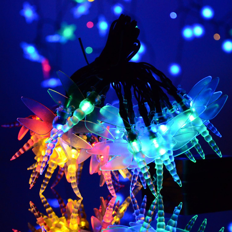 String Lights Shapes : Various Shape LED String Solar Light Outdoor Garden Xmas Party Fairy Tree Bulb eBay