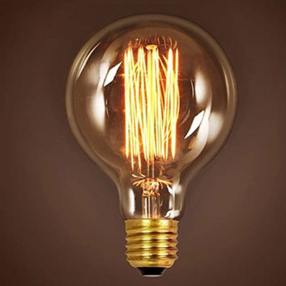Retro Globe Edison Halogen Bulb 40W 60W 110V 220V Wall Lamp Ceiling Light E27 eBay