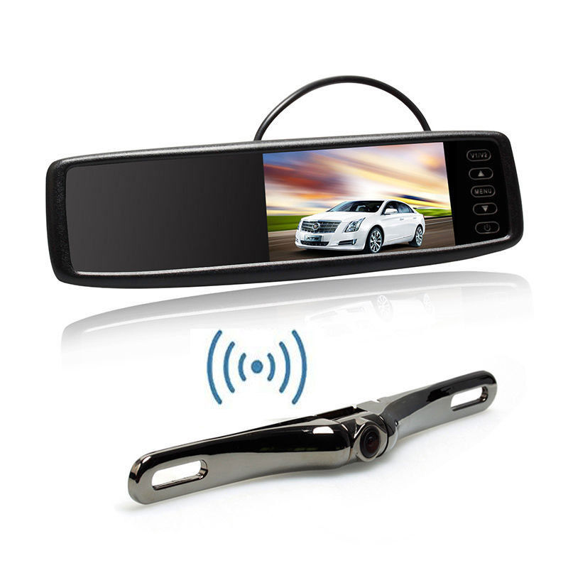 Car Rear View Mirror Monitor Wireless Backup Camera