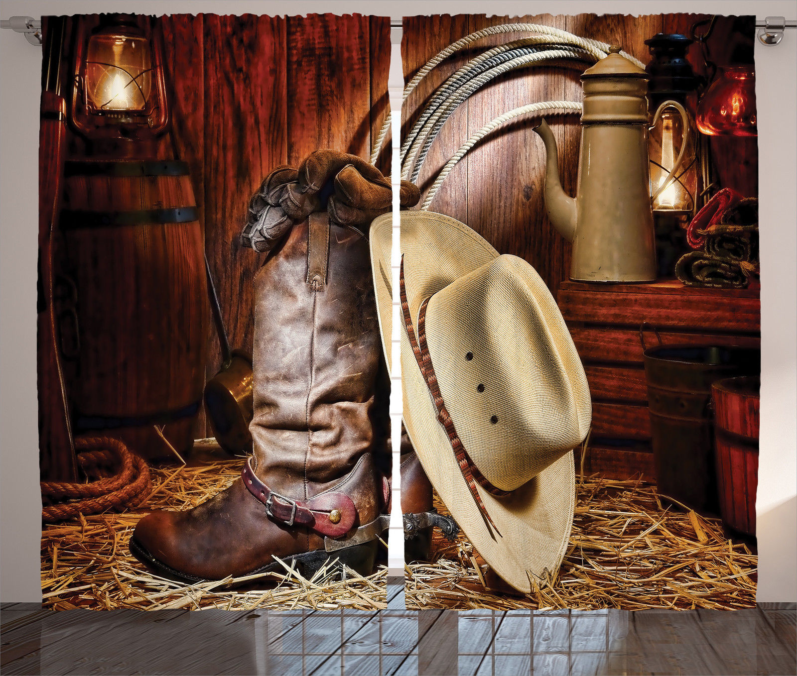 Western Theme Cowboy Boots And Hat Image Rustic Style