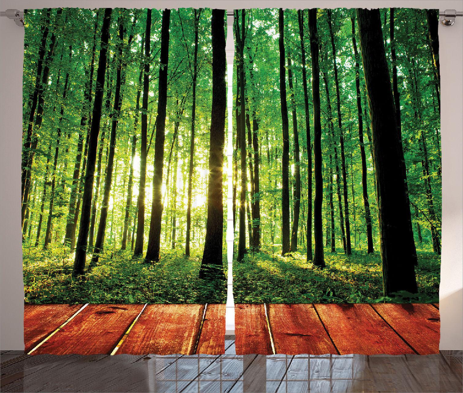 Trees Forest Image From Indoor Sunlight Wooden Floor Print