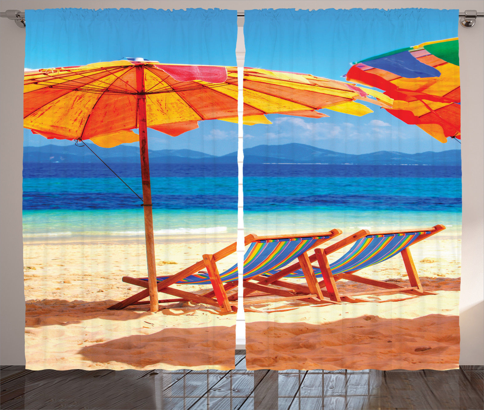 Tropical Beach Chairs Deck Chairs in Tropica...