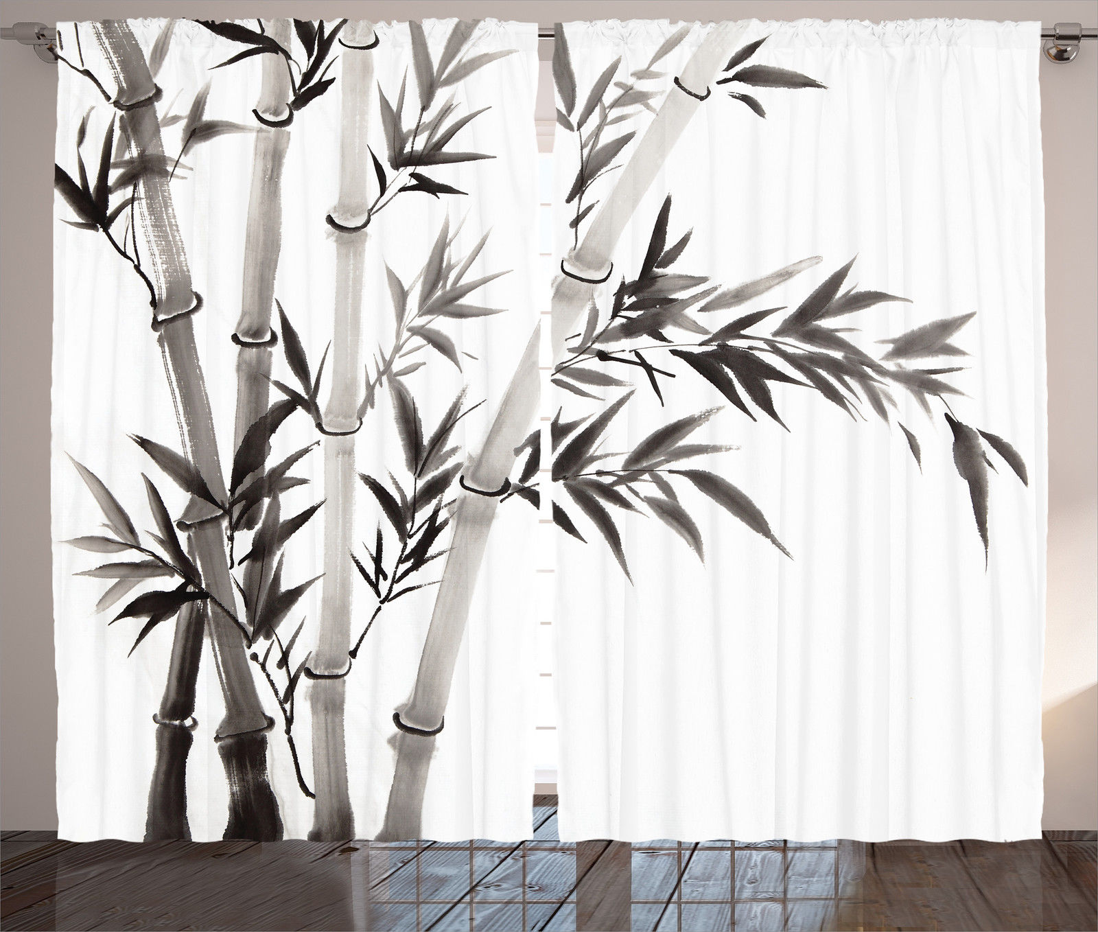 Bamboo Tree Asian Cultural Ink Art Calligraphy Style Image