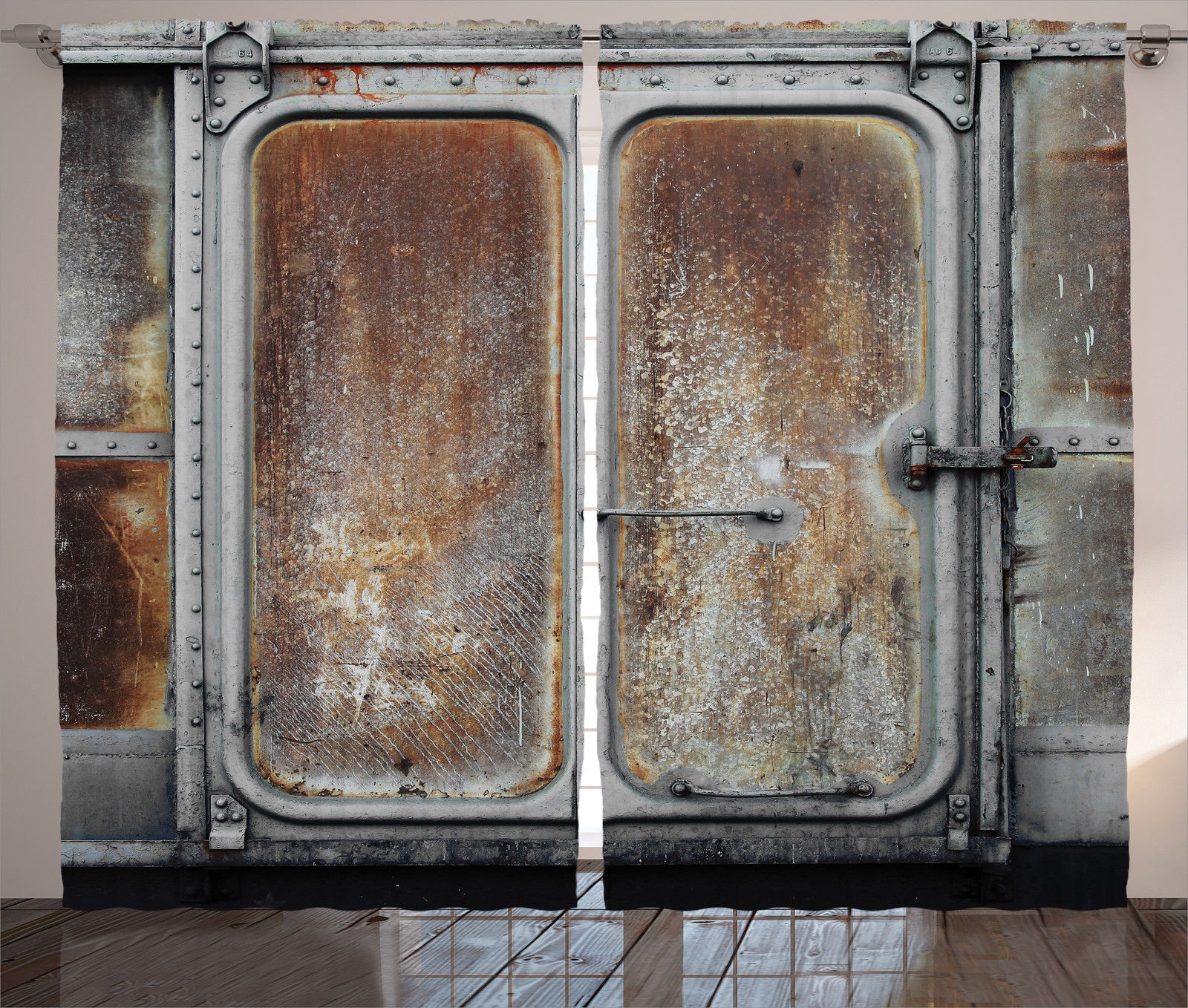 Vintage Railway Container Door Metal Locomotive Iron Image