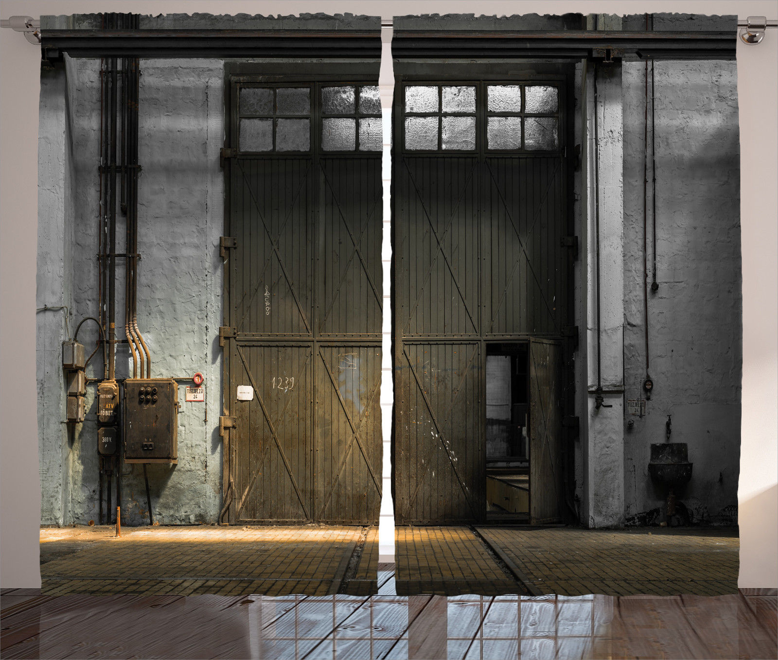 Entrance of rustic factory from 50s industrial decor image 50s home decor uk