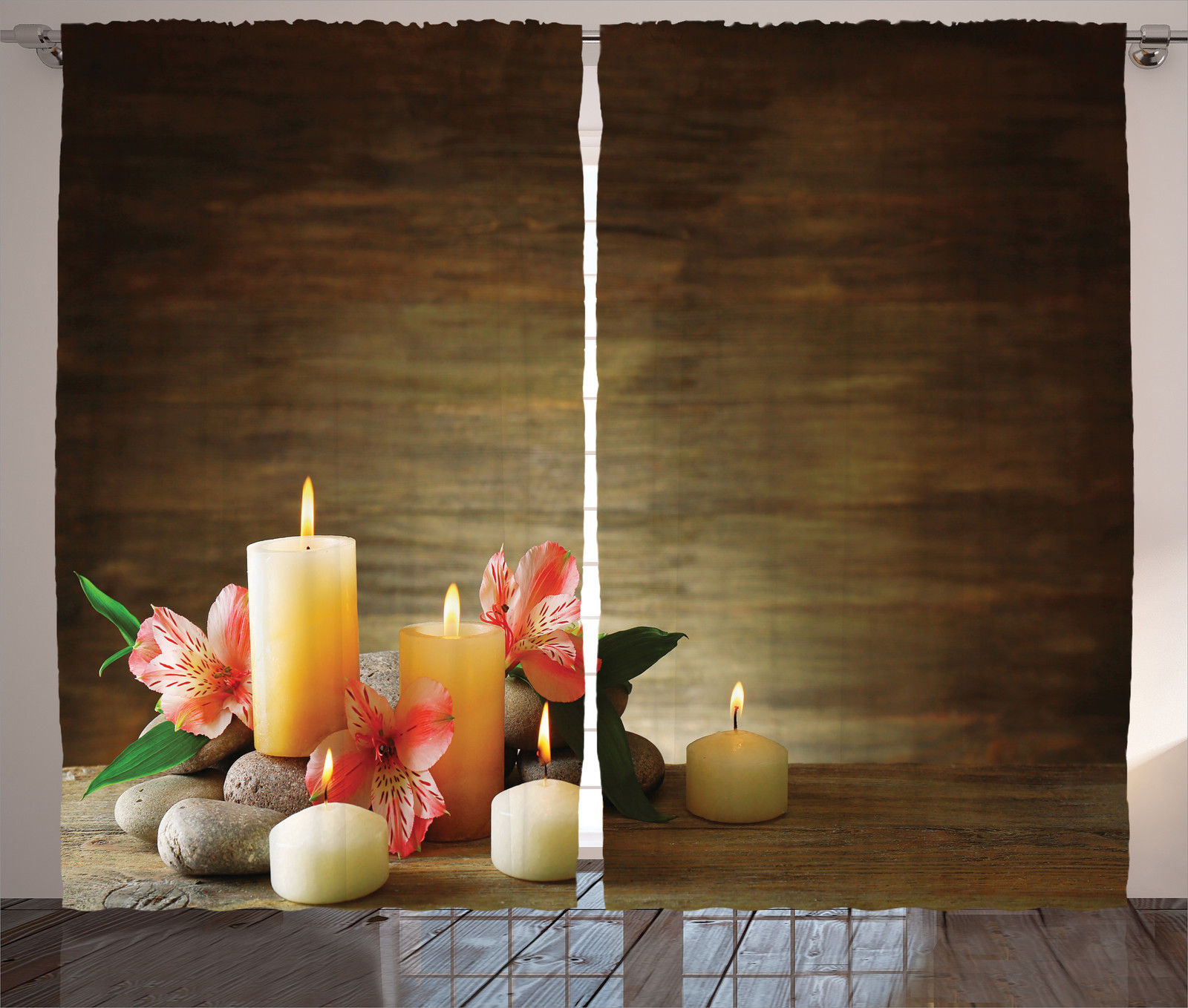 Http Www Ebay Com Itm Spa Theme With Candle Wellbeing Neutrality Yoga Home Decor Curtain 2 Panels Set 282124052949