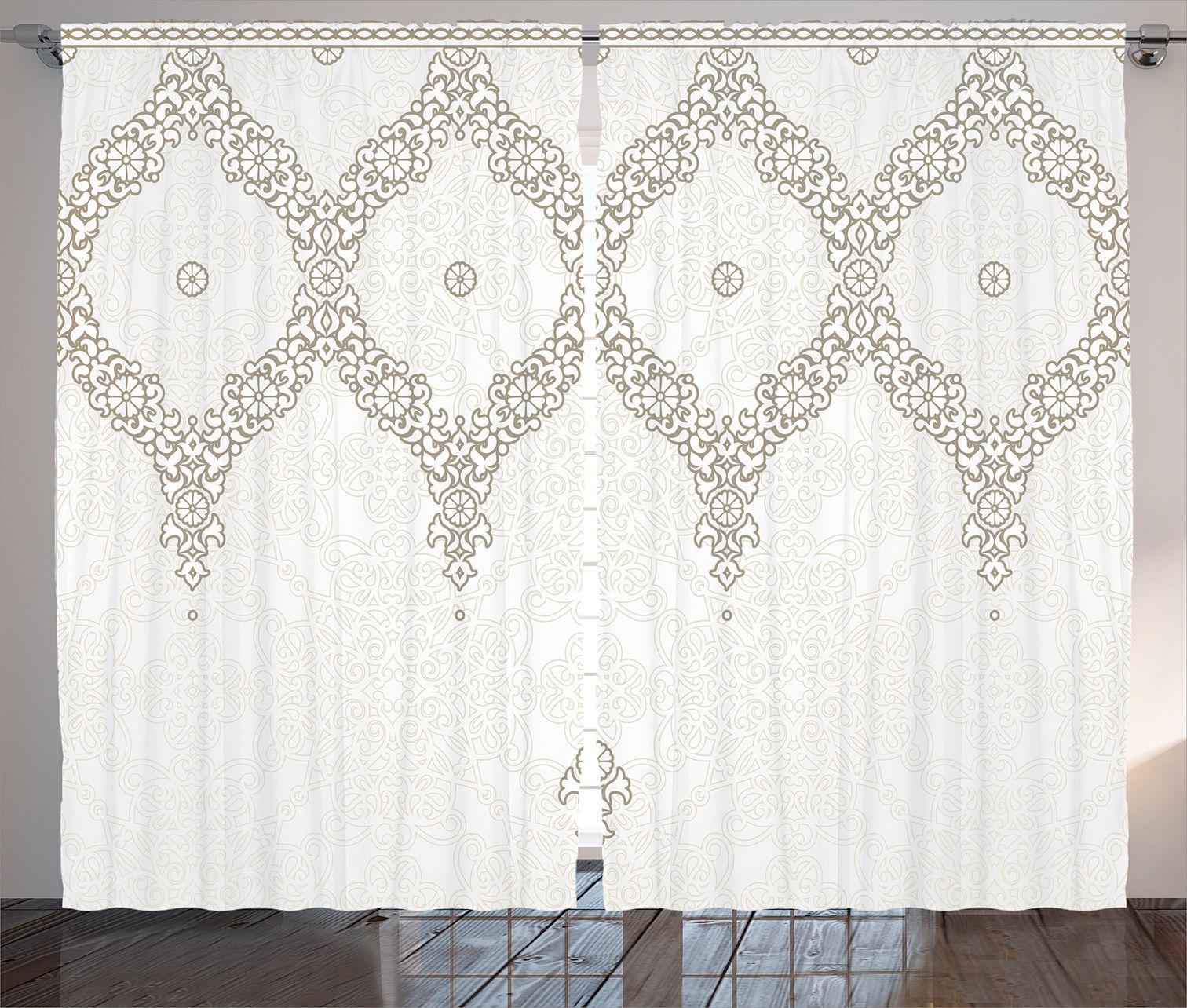 Decorative Ornate Pattern Moroccan Theme Far Eastern Print Curtain 2 Panels Set Ebay