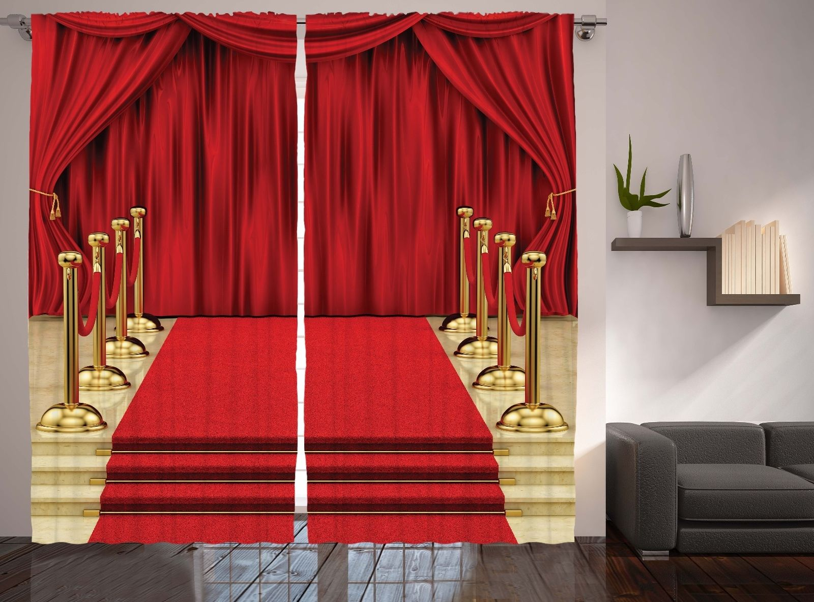 Red carpet image theatre drape hall stage french style for Auditorium stage decoration