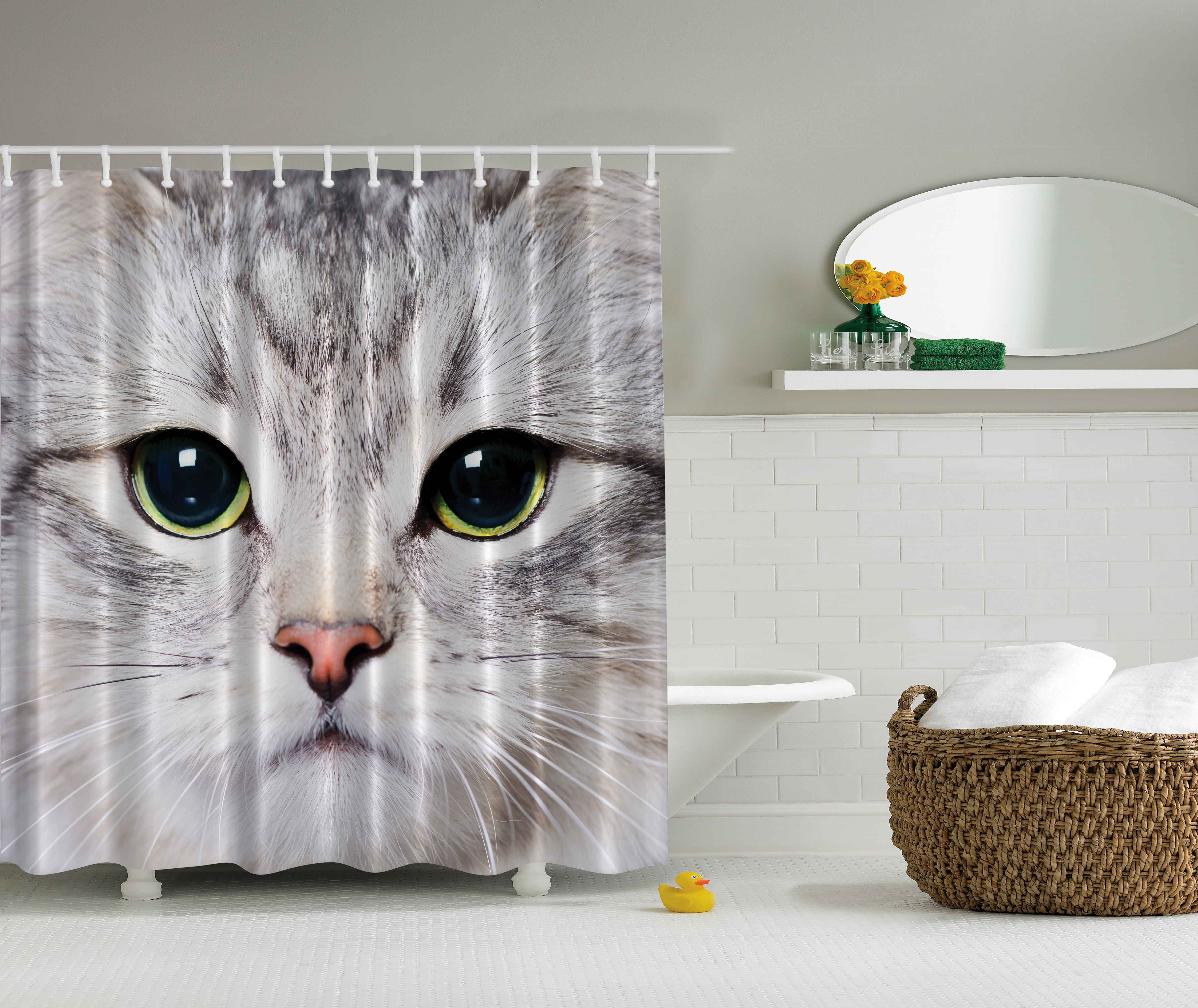 Cloud Window Curtains 3d Printing Nautical Home Decor: Animal Decor Cute Kitty Cat Close-up Portrait Picture