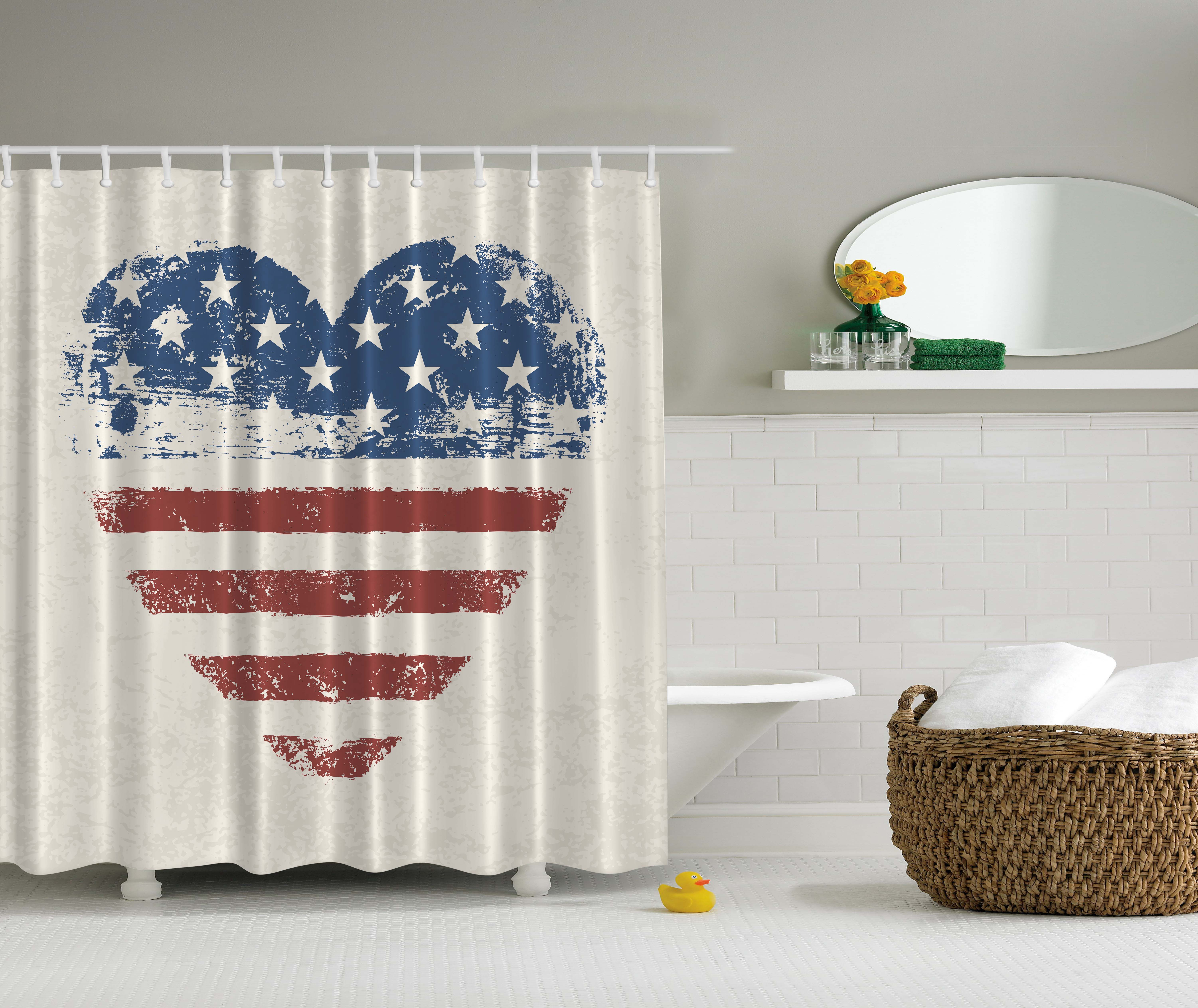 Americana home decor patriotic usa flag heart stars and for Patriotic home decorations