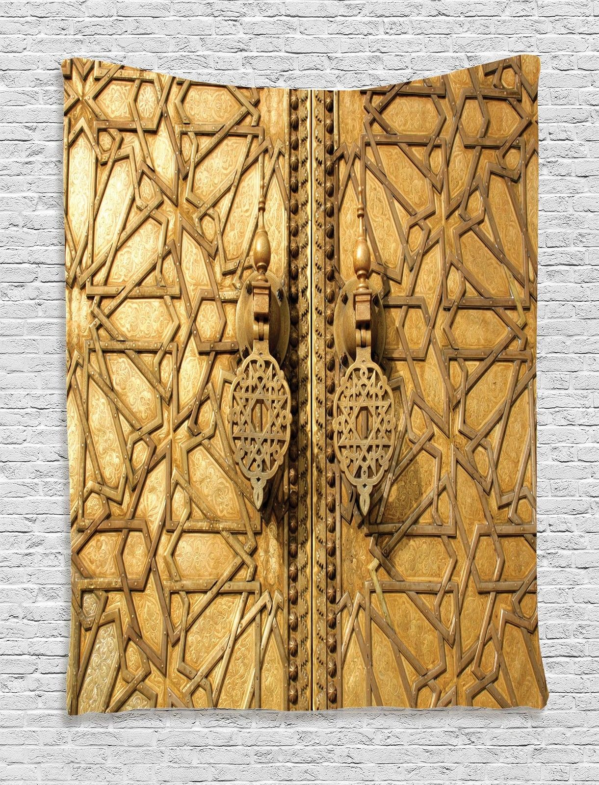 Wall Hanging Tapestry gate of palace moroccan decor luxury antique door image wall