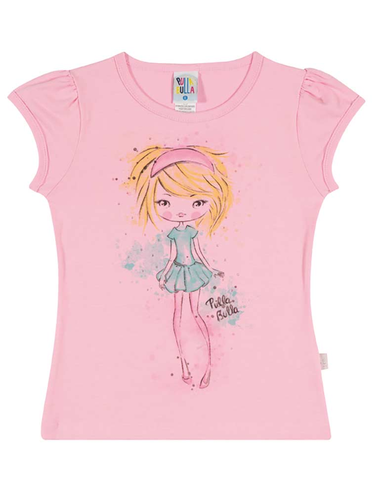 Girls shirt kids top graphic tee pulla bulla sizes 2 10 for Graphic t shirts for kids