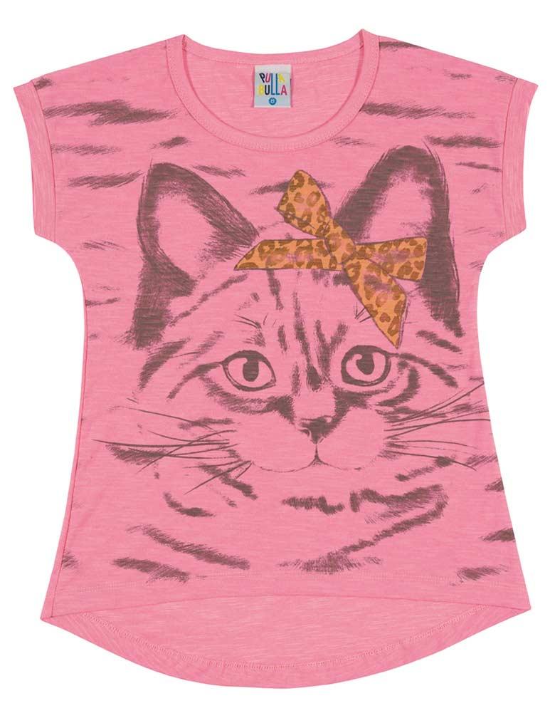 Girls t shirt kids top kitten graphic tee pulla bulla for Graphic t shirts for kids