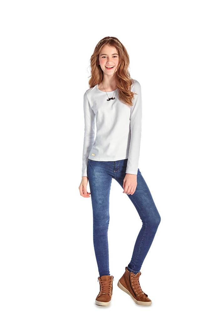 Tween Girl Long Sleeve T-Shirt Teen Clothing Classic Tee Pulla Bulla 10-16 Years