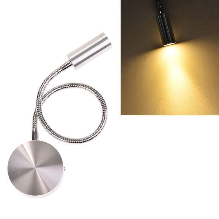 led wandleuchte mit flexarm leseleuchte wandlampe 3 watt leselampe neu ebay. Black Bedroom Furniture Sets. Home Design Ideas