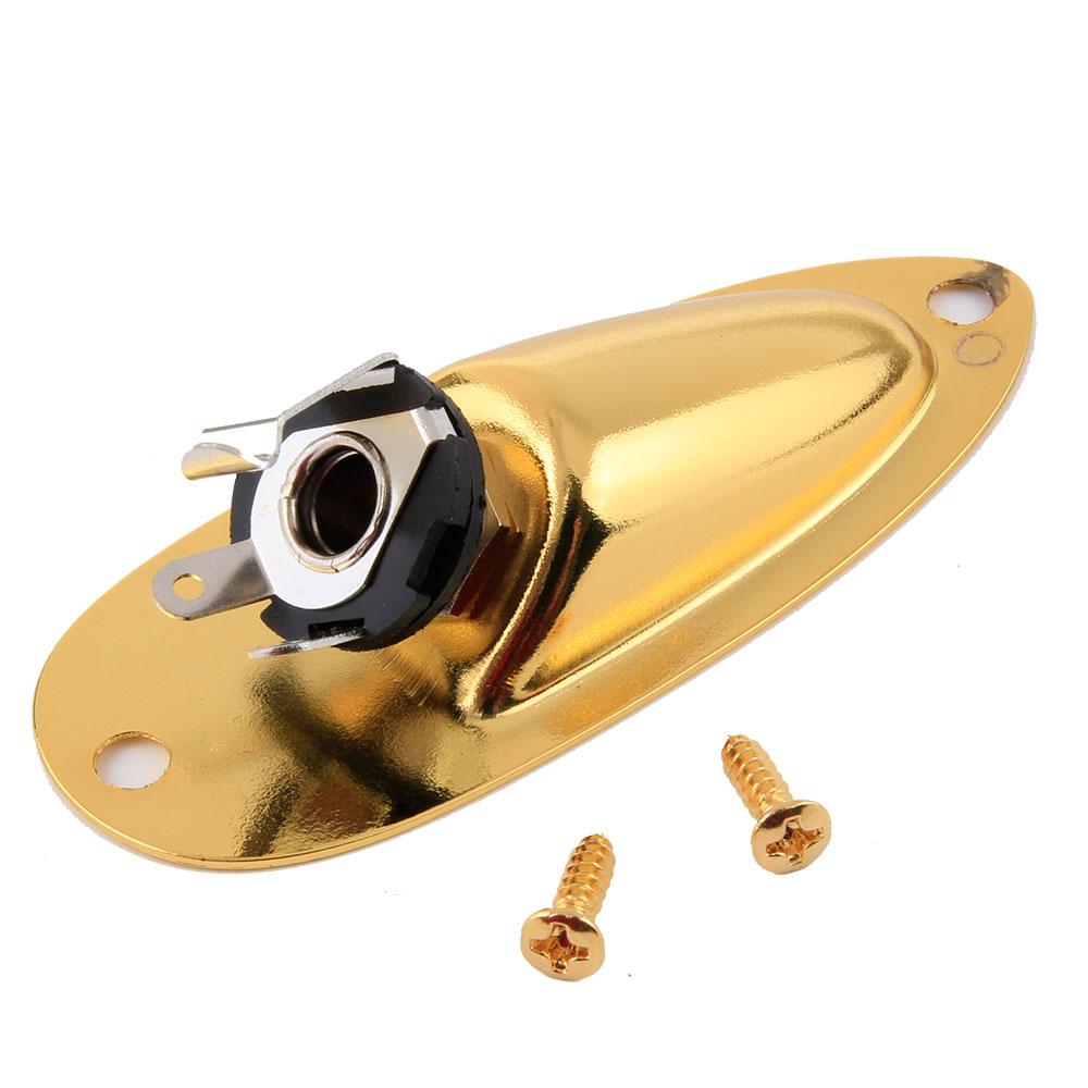 For Strat Guitar Output Jack Plate Socket New Gold Boat
