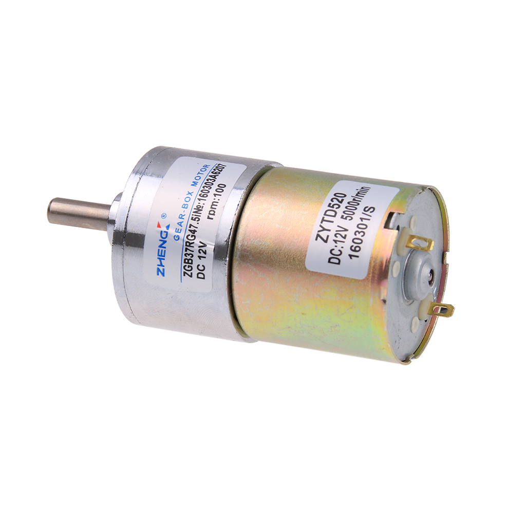100 rpm gear box electric motor 12v dc reversible high for What is dc motor