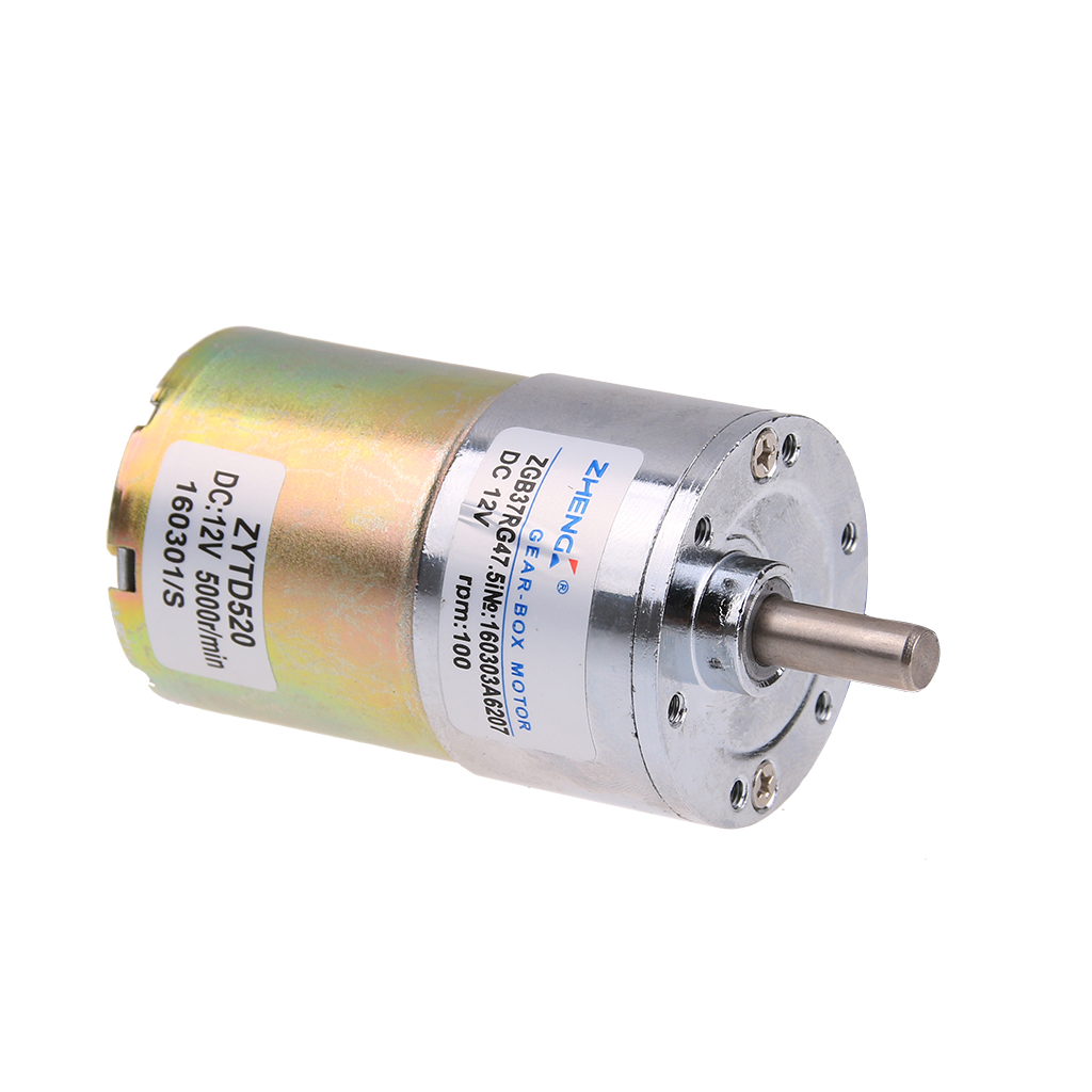 100 Rpm Gear Box Electric Motor 12v Dc Reversible High