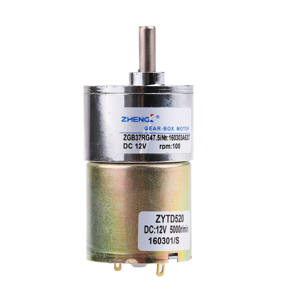 100 rpm gear box electric motor 12v dc reversible high for Dc gear motor 12v 500 rpm