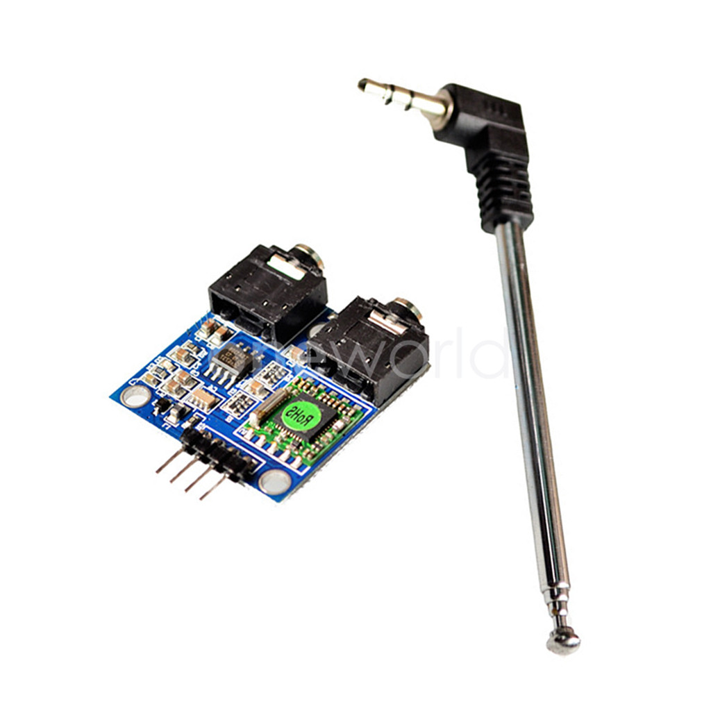 With cable antenna fm stereo radio module for arduino