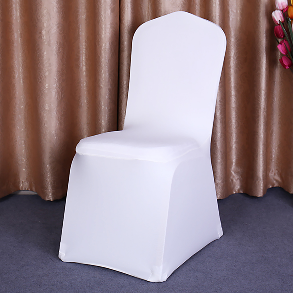 White Slipcover Chair Covers Weddings Banquet Party Decor Stretch Spandex EBay