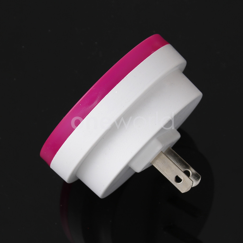 for kids mini circular led night light lamp 110 220v red automate sensor ebay. Black Bedroom Furniture Sets. Home Design Ideas
