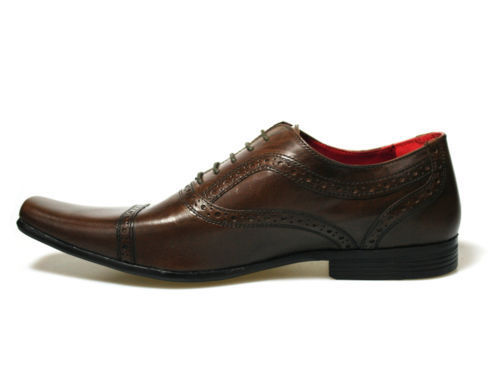 Red-Tape-Branston-Brown-Men-039-s-Leather-Shoes-UK-Size-7-12-RRP-45-Free-P-amp-P